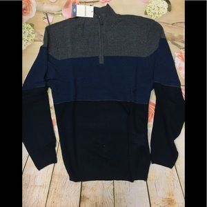 Men's Dockers Quarter Zip Sweater NWT